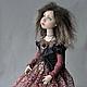 Коллекционные куклы ручной работы. Ярмарка Мастеров - ручная работа. Купить Алиса авторская кукла из флюмо 33см сидя. Handmade.