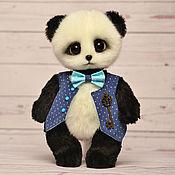 Куклы и игрушки ручной работы. Ярмарка Мастеров - ручная работа Малыш панда-джентльмен. Handmade.
