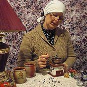 Пиджаки ручной работы. Ярмарка Мастеров - ручная работа Кофта женская вязаная спицами Бабушкина. Handmade.