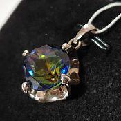 Украшения handmade. Livemaster - original item Silver pendant with quartz 12 mm. Handmade.