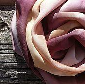 Аксессуары ручной работы. Ярмарка Мастеров - ручная работа Шелковый шарф  Эвкалиптовый, шелковый шарф экопринт. Handmade.