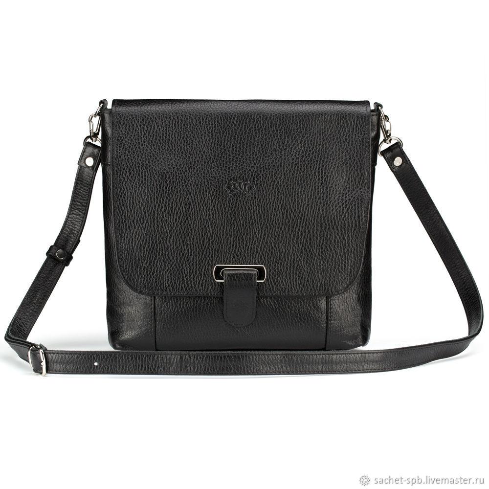 Leather bag 'Douglas' (black), Classic Bag, St. Petersburg,  Фото №1