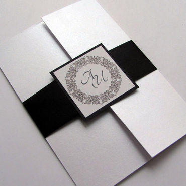 Свадебный салон ручной работы. Ярмарка Мастеров - ручная работа Свадебное приглашение Чёрный/белый. Handmade.