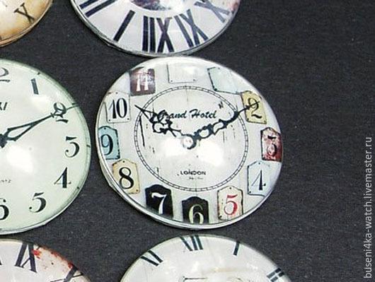Для украшений ручной работы. Ярмарка Мастеров - ручная работа. Купить Кабошон Часики №40 (25мм). Handmade. Материалы для украшений