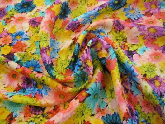 Шитье ручной работы. Ярмарка Мастеров - ручная работа. Купить Итальянский шелк.. Handmade. Шелк, шелковое платье, шелковые цветы
