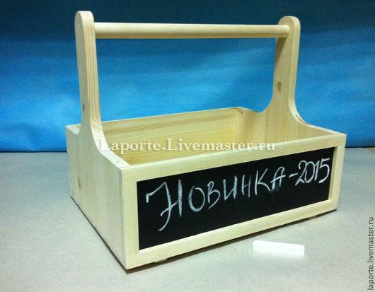 Деревянный ящик для творчества с уникальной грифельной доской для рисования