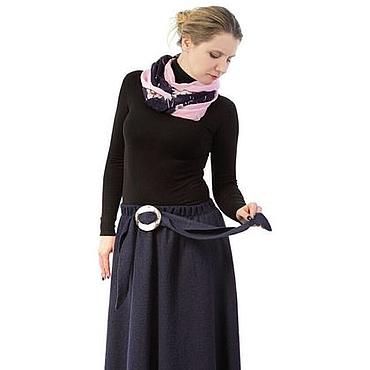 Одежда ручной работы. Ярмарка Мастеров - ручная работа Синяя юбка из варёной шерсти. Handmade.