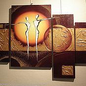 """Картины и панно ручной работы. Ярмарка Мастеров - ручная работа Картина маслом """"Танец планет"""". Handmade."""