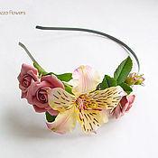 handmade. Livemaster - original item Headband with flowers