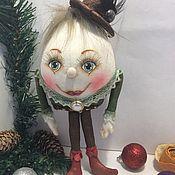 Куклы и игрушки ручной работы. Ярмарка Мастеров - ручная работа Шалтай Болтай ёлочная игрушка. Handmade.