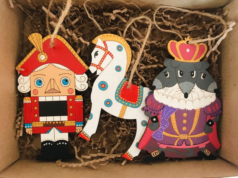 Ёлочные игрушки - щелкунчик, лошадка, мышиный король, Елочные игрушки, Москва,  Фото №1