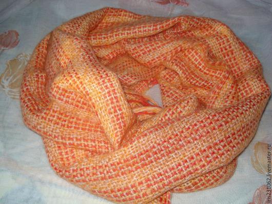 Шарфы и шарфики ручной работы. Ярмарка Мастеров - ручная работа. Купить домотканый шарф-осень золотая. Handmade. Рыжий