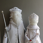 """Куклы и игрушки ручной работы. Ярмарка Мастеров - ручная работа """"Дед Мороз и Снегурочка"""" Куклы-образы.... Handmade."""