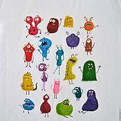 Одежда детская handmade. Livemaster - original item T-shirts and tops: Cool t-shirt with a Monster pattern. Handmade.