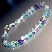 Украшения handmade. Livemaster - original item Delicate bracelet made of natural fluorite. Handmade.