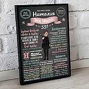 Подарки к праздникам handmade. Livemaster - original item Poster achievements for mom