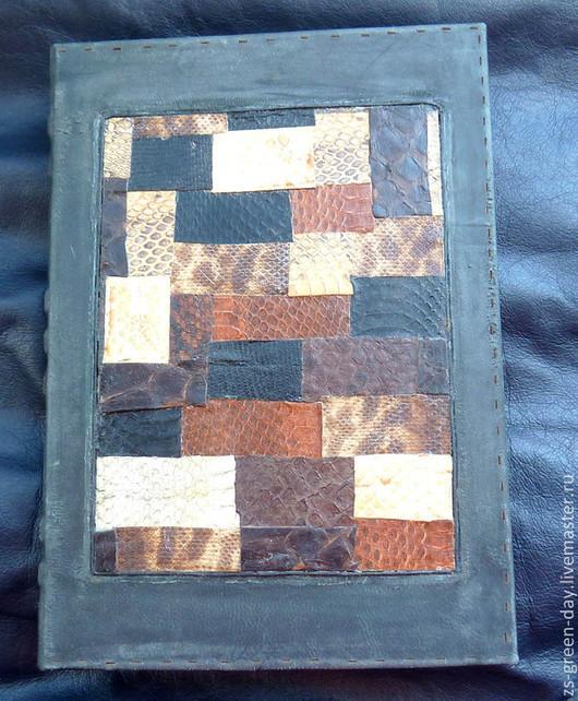 Блокноты ручной работы. Ярмарка Мастеров - ручная работа. Купить Змеиный блокнот. Handmade. Черный, переплётный картон