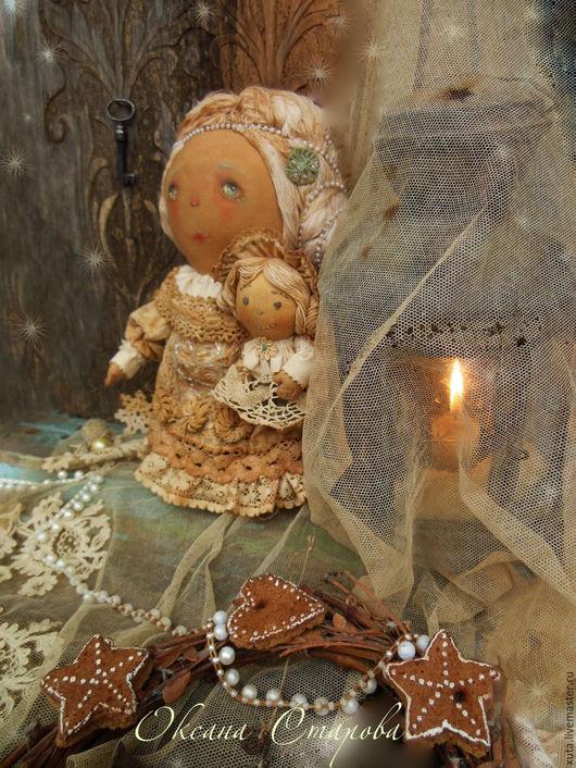 Коллекционные куклы ручной работы. Ярмарка Мастеров - ручная работа. Купить Сказки  Декабря.... Handmade. Сказки декабря, рождественский ангел