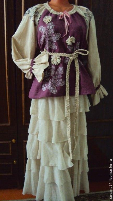 Блузки ручной работы. Ярмарка Мастеров - ручная работа. Купить Блузка бохо. Handmade. Разноцветный, русский стиль, красивая блузка