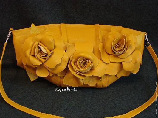 """Женские сумки ручной работы. Ярмарка Мастеров - ручная работа. Купить Клатч с цветами """" Чайные розы"""". Handmade. Клатч"""