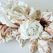 """Свадебный салон ручной работы. Ярмарка Мастеров - ручная работа Композиция из роз """"Paloma"""". Ветка роз, цветы из шелка, шелковые розы. Handmade."""