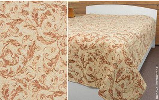 Текстиль, ковры ручной работы. Ярмарка Мастеров - ручная работа. Купить Покрывало гобеленовое - бежевые  веточки. Handmade. Бежевый