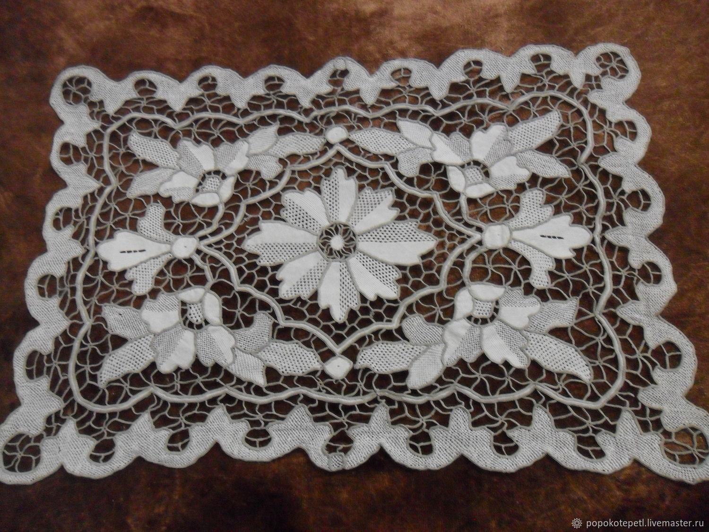 Vintage napkin Venetian needle lace,rare vintage, Vintage interior, Novorossiysk,  Фото №1