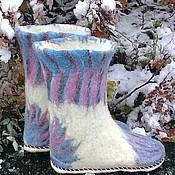 """Обувь ручной работы. Ярмарка Мастеров - ручная работа валенки """"Зимние цветы"""". Handmade."""