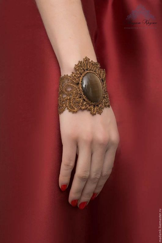 Браслеты ручной работы. Ярмарка Мастеров - ручная работа. Купить Кружевной браслет «Принцесса Монако» Вологодское коклюшечное кружево. Handmade.