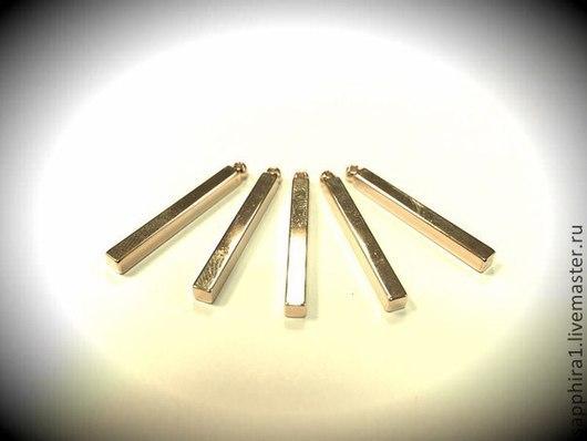Для украшений ручной работы. Ярмарка Мастеров - ручная работа. Купить Подвеска 29:3 мм палочка mini позолоченная. Handmade.