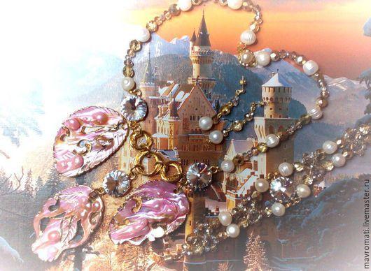 """Комплекты украшений ручной работы. Ярмарка Мастеров - ручная работа. Купить Комплект с перламутром и жемчугом  """" Сказочное королевство """". Handmade."""