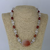 handmade. Livemaster - original item Necklace from natural stones - agate, opal