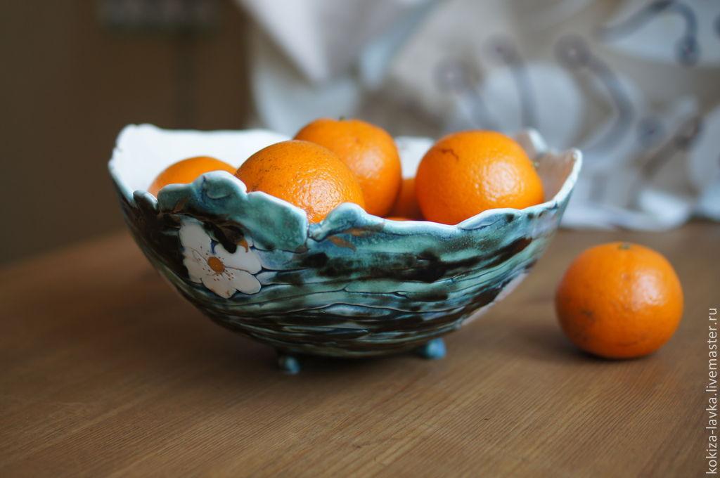 """ваза для фруктов и конфет """"Весенний цветок"""""""