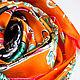 """Шарфы и шарфики ручной работы. Эксклюзив! Шёлковый платок Salvatore Ferragamo """"Марокканский"""" оранжев. Diminn/Platkoffcom. Ярмарка Мастеров. Diminn"""
