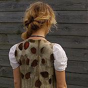 """Одежда ручной работы. Ярмарка Мастеров - ручная работа Жилет """"Nature"""" натуральное окрашивание, экопринт. Handmade."""