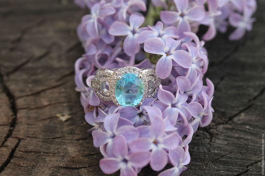 """Кольца ручной работы. Ярмарка Мастеров - ручная работа. Купить Серебряное кольцо """"Герцогиня"""".. Handmade. Голубой, кольцо серебряное"""