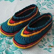 Обувь ручной работы. Ярмарка Мастеров - ручная работа Тапочки  женские,  вязаные  крючком. Handmade.