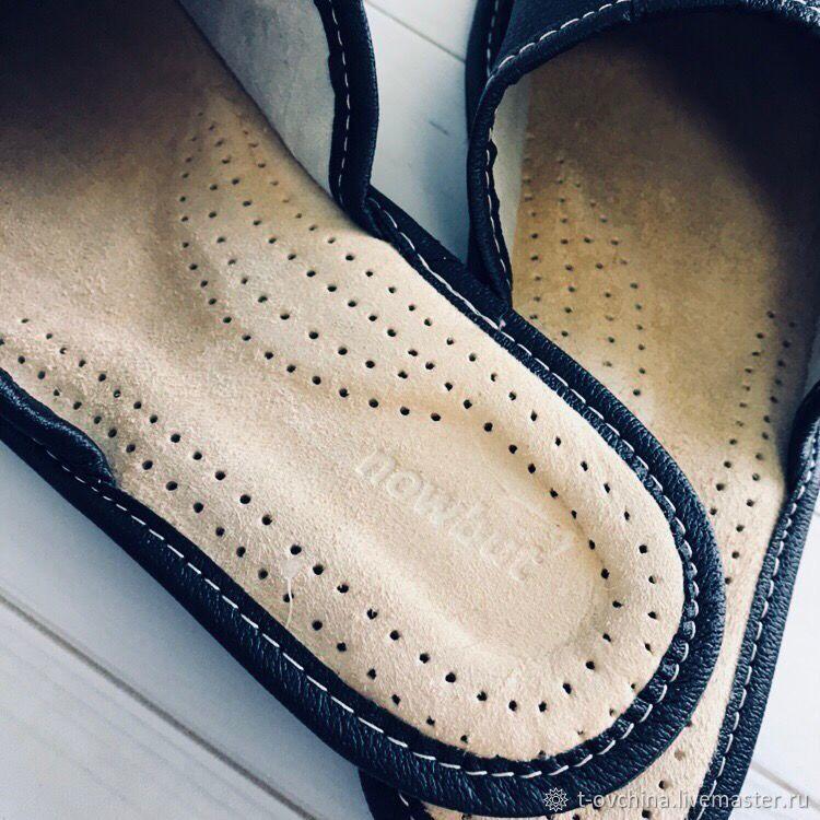 7fd3a2965dc77 Тапочки кожаные домашние мужские, Классик черные – купить в интернет ...
