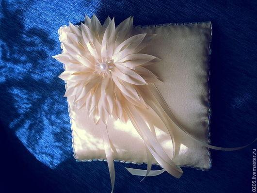 Свадебные аксессуары ручной работы. Ярмарка Мастеров - ручная работа. Купить Подушечки для колец. Handmade. Белый, праздничный аксессуар, органза