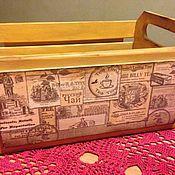 """Для дома и интерьера ручной работы. Ярмарка Мастеров - ручная работа Короб """"Чайный домик"""". Handmade."""