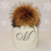 Работы для детей, ручной работы. Ярмарка Мастеров - ручная работа Зимняя шапка для девочки. Handmade.