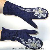 Аксессуары handmade. Livemaster - original item Mittens: Felted mittens