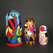 Русский стиль handmade. Livemaster - original item Matryoshka Russian avant-garde triple. Handmade.