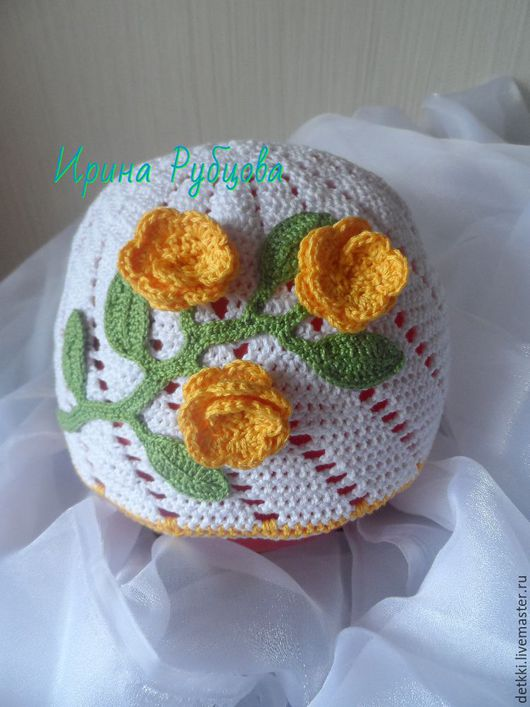 Шапки и шарфы ручной работы. Ярмарка Мастеров - ручная работа. Купить шапочка для девочки. Handmade. Белый, шапочка детская
