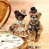 Куклы и игрушки ручной работы. Ярмарка Мастеров - ручная работа Супружеская чета - мистер и миссис Браун (3,3см). Handmade.