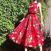 """Одежда ручной работы. Ярмарка Мастеров - ручная работа Платье летнее из хлопка """"Маки"""". Handmade."""