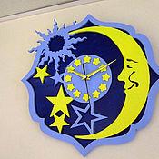 Для дома и интерьера ручной работы. Ярмарка Мастеров - ручная работа Часы Ночное небо. Handmade.