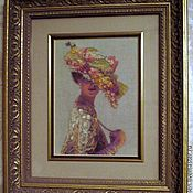 Картины и панно ручной работы. Ярмарка Мастеров - ручная работа Элегантная леди. Handmade.