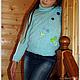 Одежда для девочек, ручной работы. Голубой вязаный свитер для девочки Незабудка. Вязание  Лоскутное шитье Пэчворк (Svetlana-Svet). Интернет-магазин Ярмарка Мастеров.
