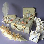 Свадебный салон ручной работы. Ярмарка Мастеров - ручная работа Набор свадебных аксессуаров в персиковой гамме. Handmade.